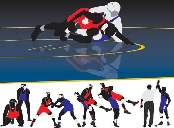 Wrestling clip art Free vector in Encapsulated PostScript.
