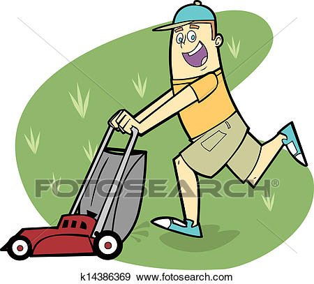 Funny Yard Work Clipart.