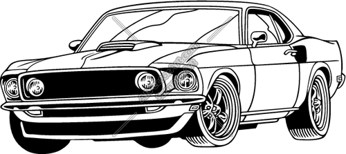 Free Yellow Muscle Car Clipart Clipground