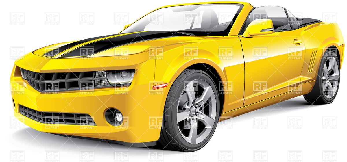 Free Yellow Muscle Car Clipart.