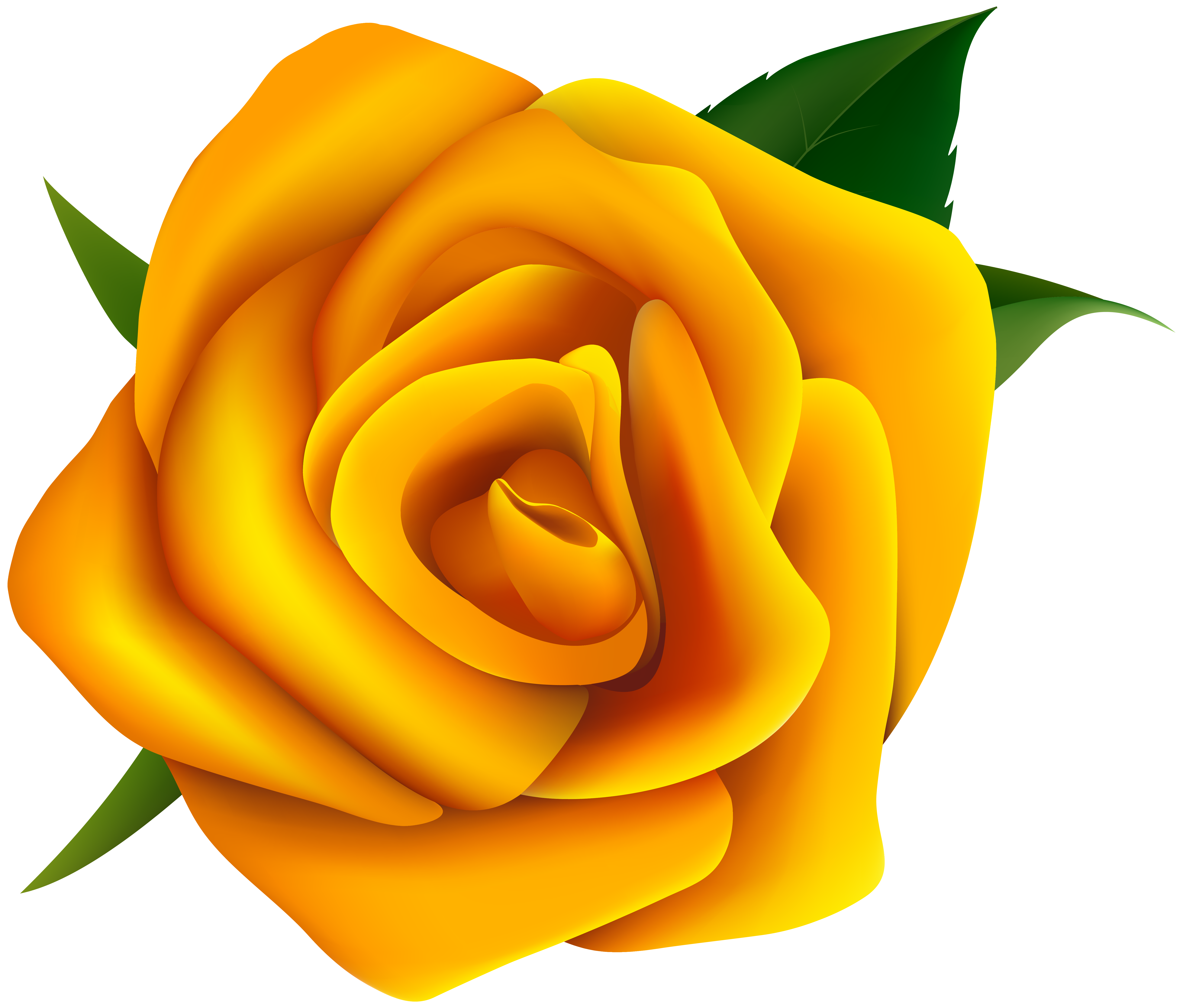 Yellow Rose Clipart PNG Image.
