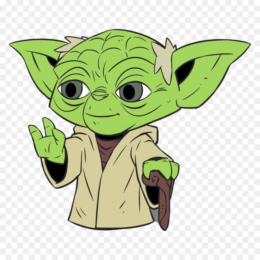 Yoda Cartoon png download.