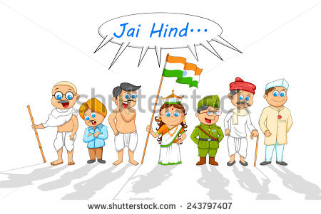 Indian Freedom Fighters Clipart.