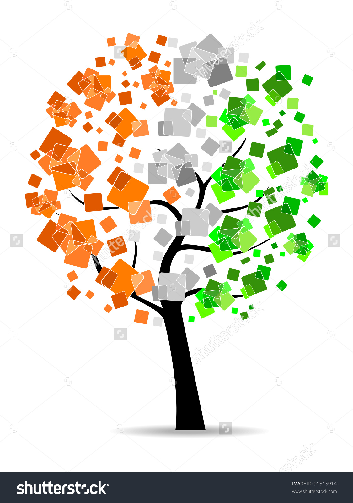 Freedom Tree Having Leafs Indian Flag Stock Vector 91515914.