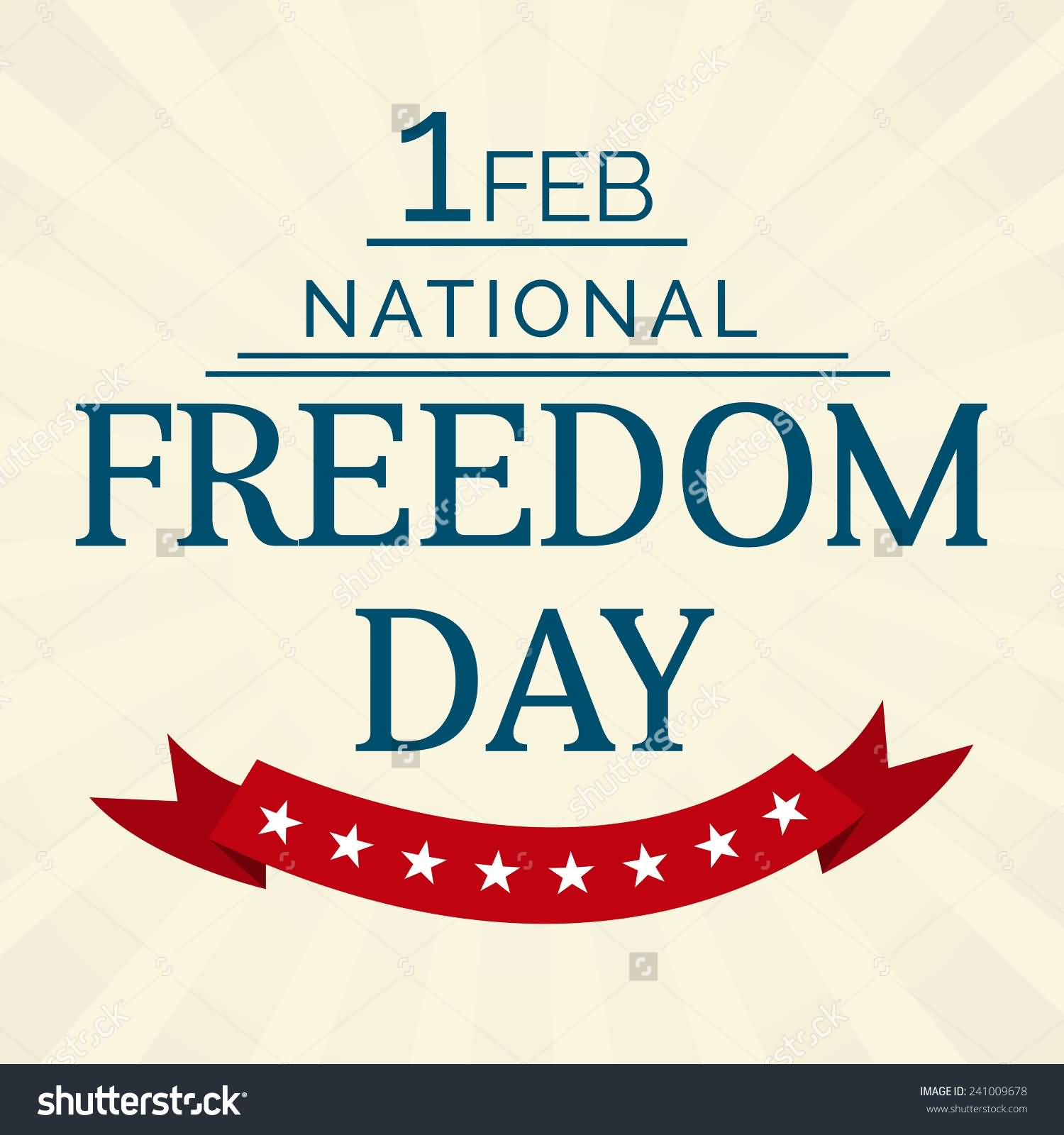 Happy National Freedom Day People Joining Hands.
