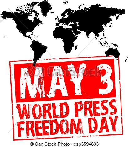 Vector Clipart of world press freedom day csp6250790.