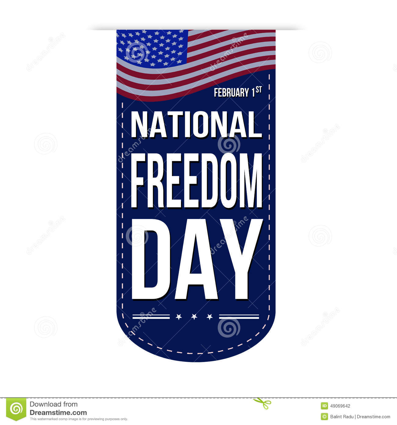 National Freedom Day Banner Design Stock Vector.