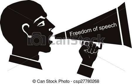 Freedom of speech clipart.
