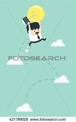 Clip Art of Freedom of thought To make a successful k21789028.