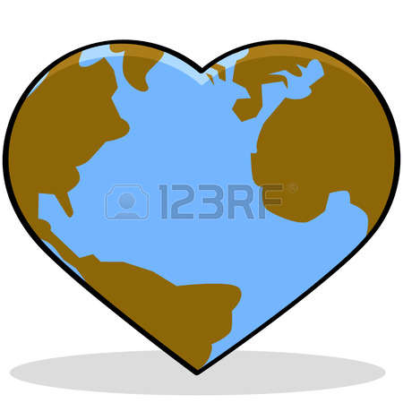 4,270 Heart Earth Stock Illustrations, Cliparts And Royalty Free.