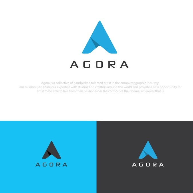 Agora new Logo (collective of artist offering freelancing.