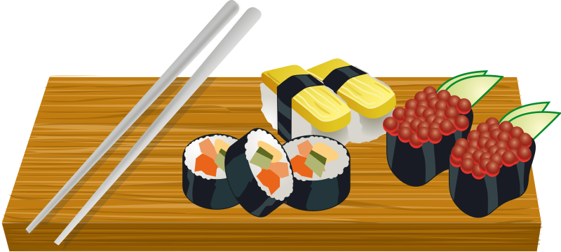 Free to Use & Public Domain Sushi Clip Art.