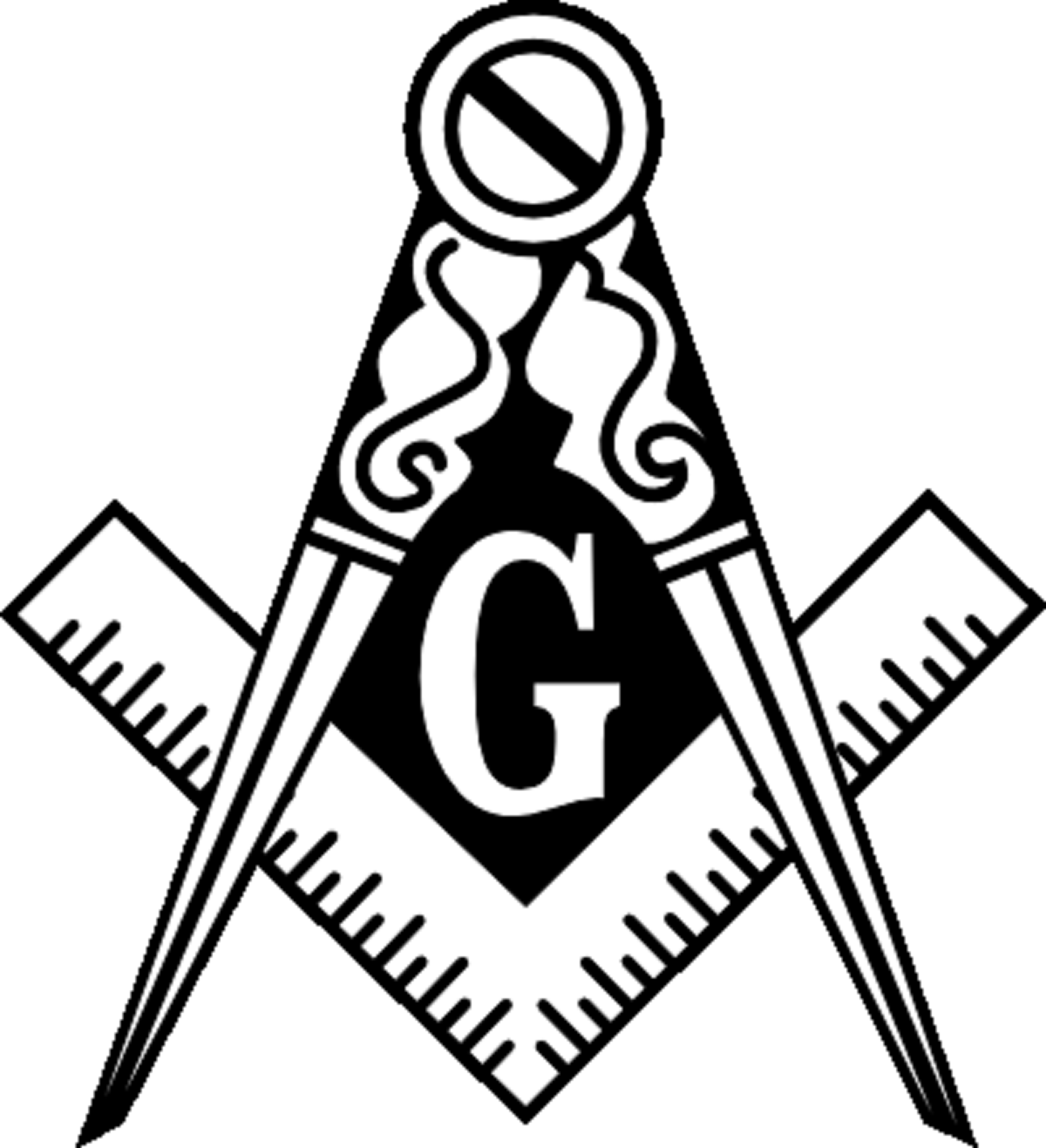 Masonic Square And Compass Logo Clipart.