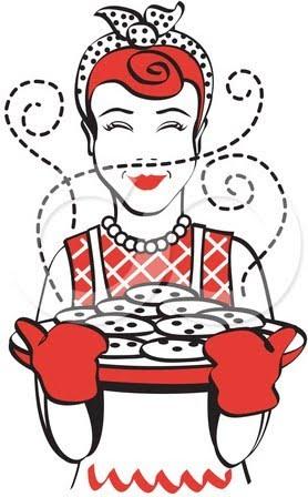 Cookies In Oven Clipart.