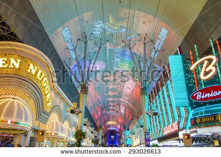 Fremont Street Vegas Stock Photos, Royalty.
