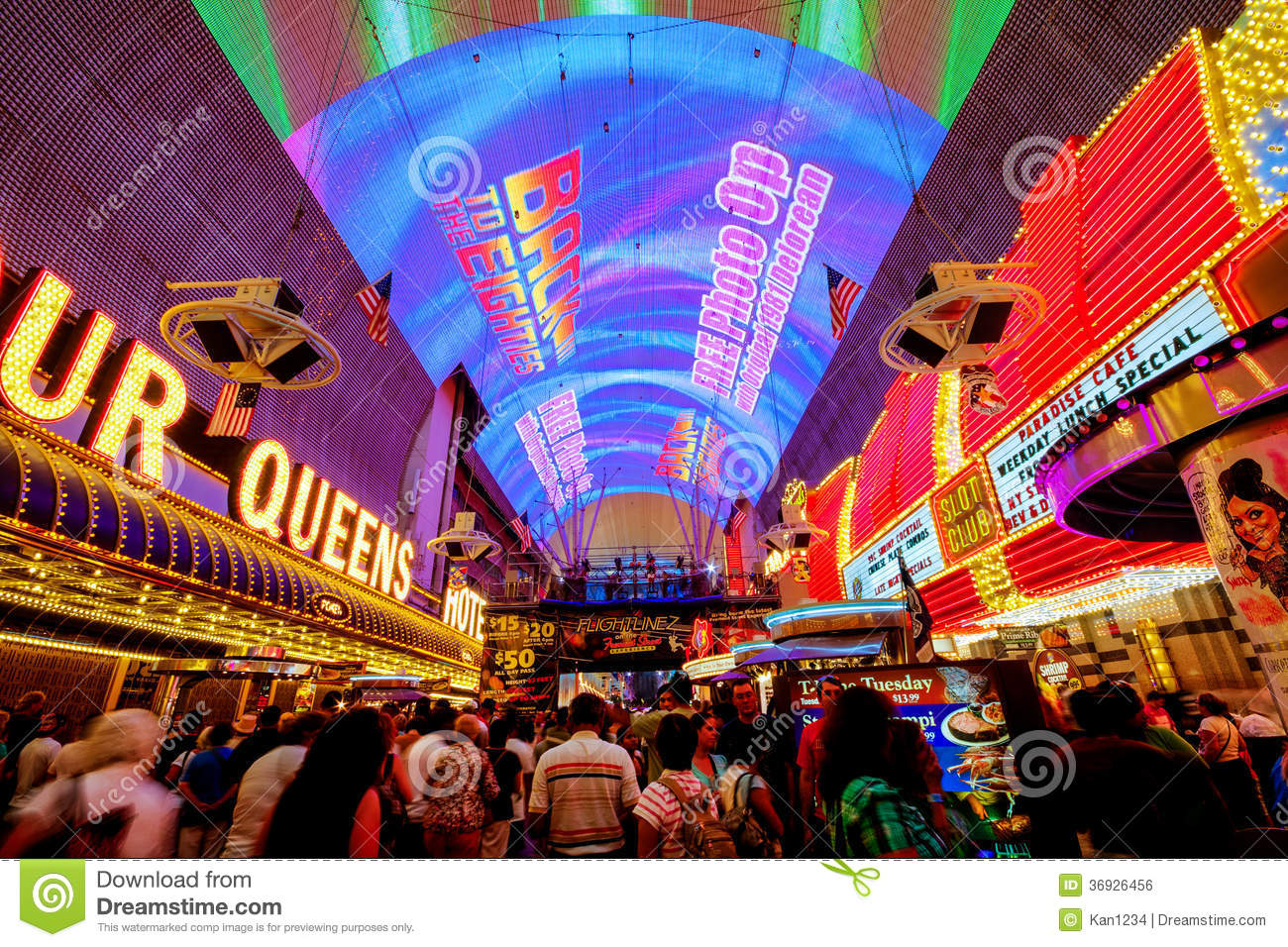 Fremont Street Experience In Las Vegas Editorial Photo.