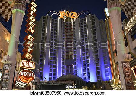 "Stock Photography of ""Plaza Casino Hotel, Fremont Street."