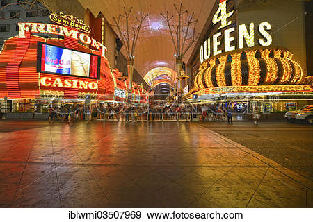 """Stock Photograph of """"Neon dome of the Fremont Street Experience in."""