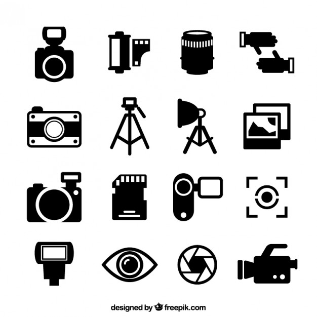Photography icons Vector.