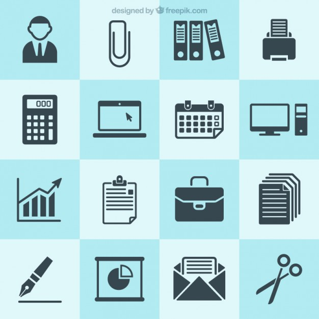 Business icons collection Vector.