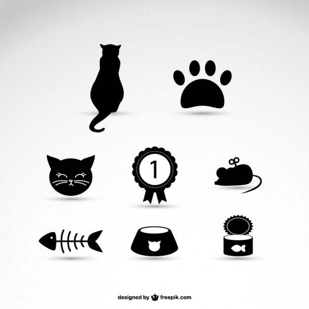 Cat pet icons Vector.