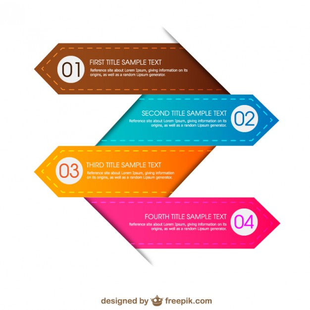 Colorful infographic Vector.