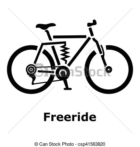 Vector Illustration of Freeride bike icon, simple style.