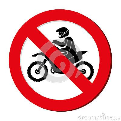 Prohibited Sign Extreme Sport Athlete Avatar Stock Illustration.