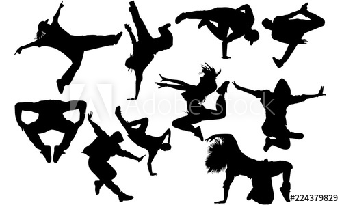 Hip Hop Dance svg, dance cricut files, black dancer.