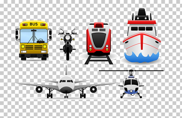 Car airplane PNG clipart.
