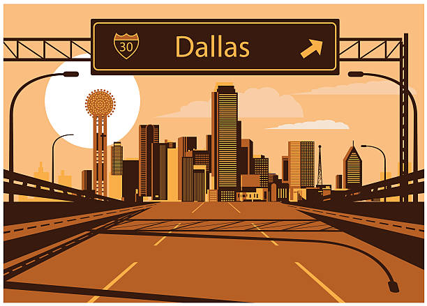 Dallas Freeways Clip Art, Vector Images & Illustrations.