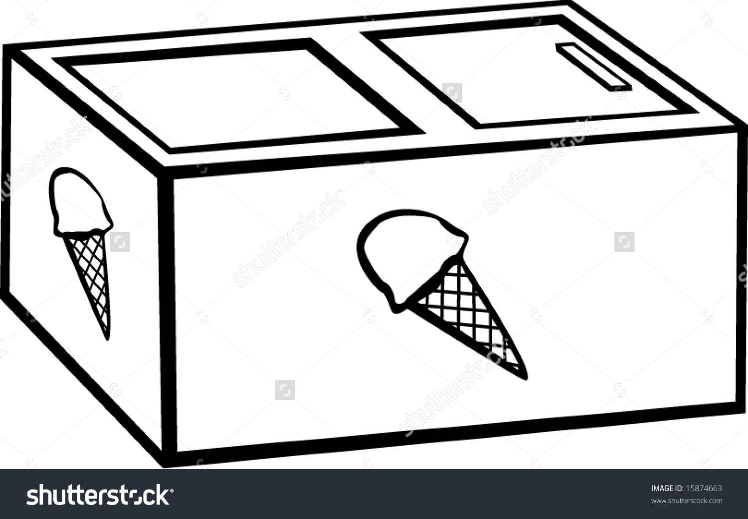 Ice Cream Freezer Clip Art.
