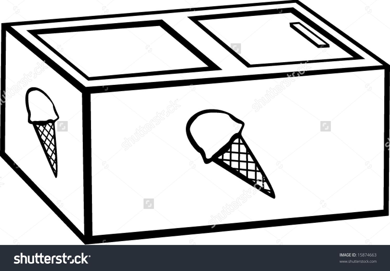 Ice Cream Freezer Clip Art.