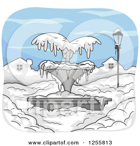 Freezing water clipart.