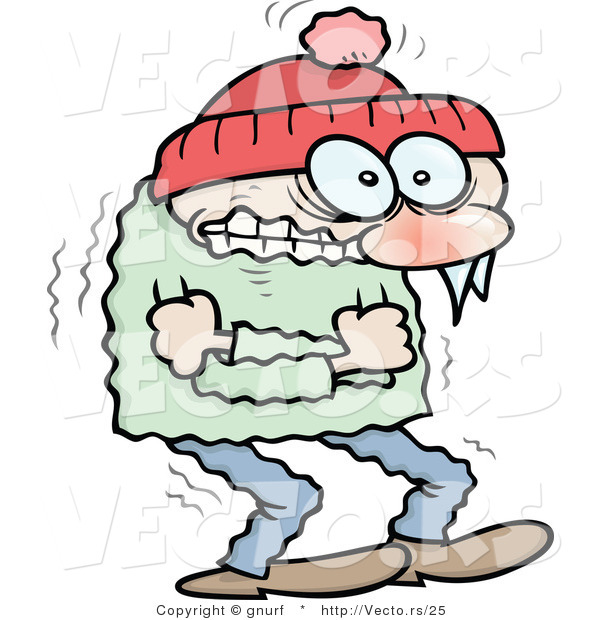 Clipart Freezing Person.