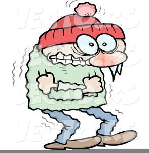 Woman Freezing Clipart.