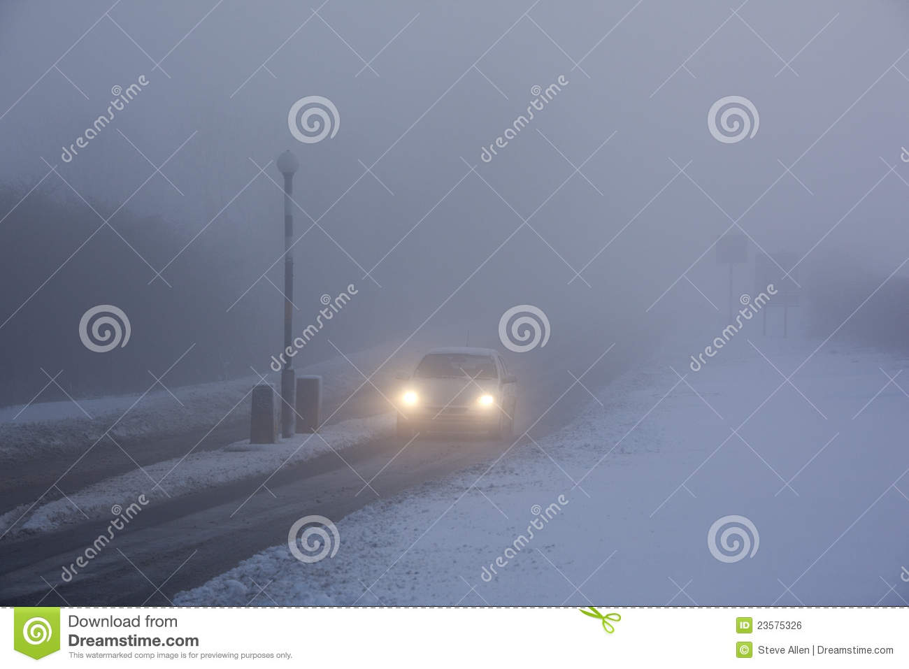 Driving In Freezing Fog.