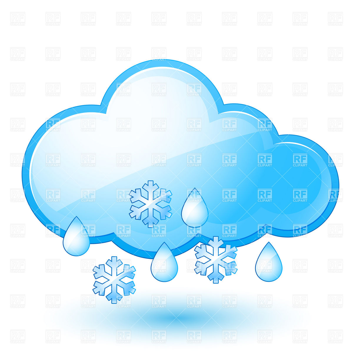 Snow with rain.