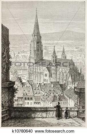 Stock Illustrations of Freiburg Minster k10780640.