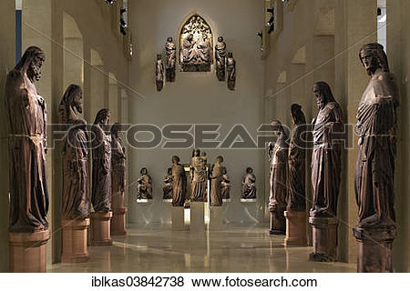 """Pictures of """"Stone figures from Freiburg Minster in a former."""