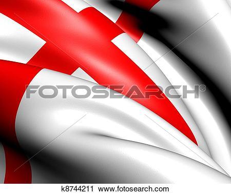 Clipart of Flag of Freiburg im Breisgau, Germany. k8744211.