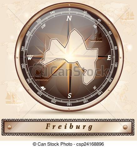 EPS Vectors of Map of Freiburg.
