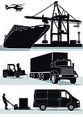 Freight Clip Art Vector Graphics. 20,749 freight EPS clipart.