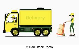 Freight Truck Clipart.
