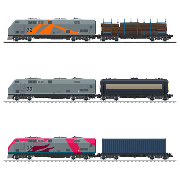 Best Freight Train Illustrations, Royalty.