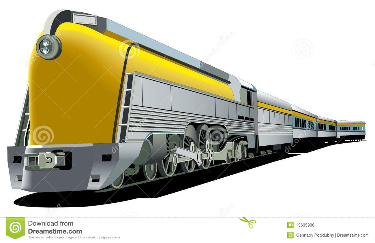 Freight Train Clipart.
