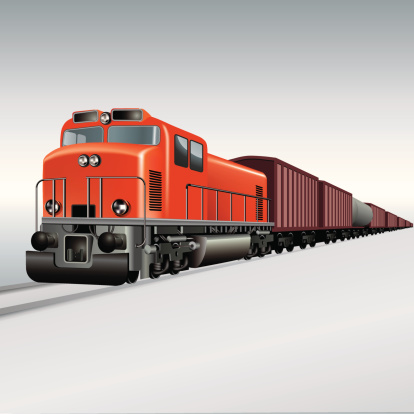 Freight Train Clipart.