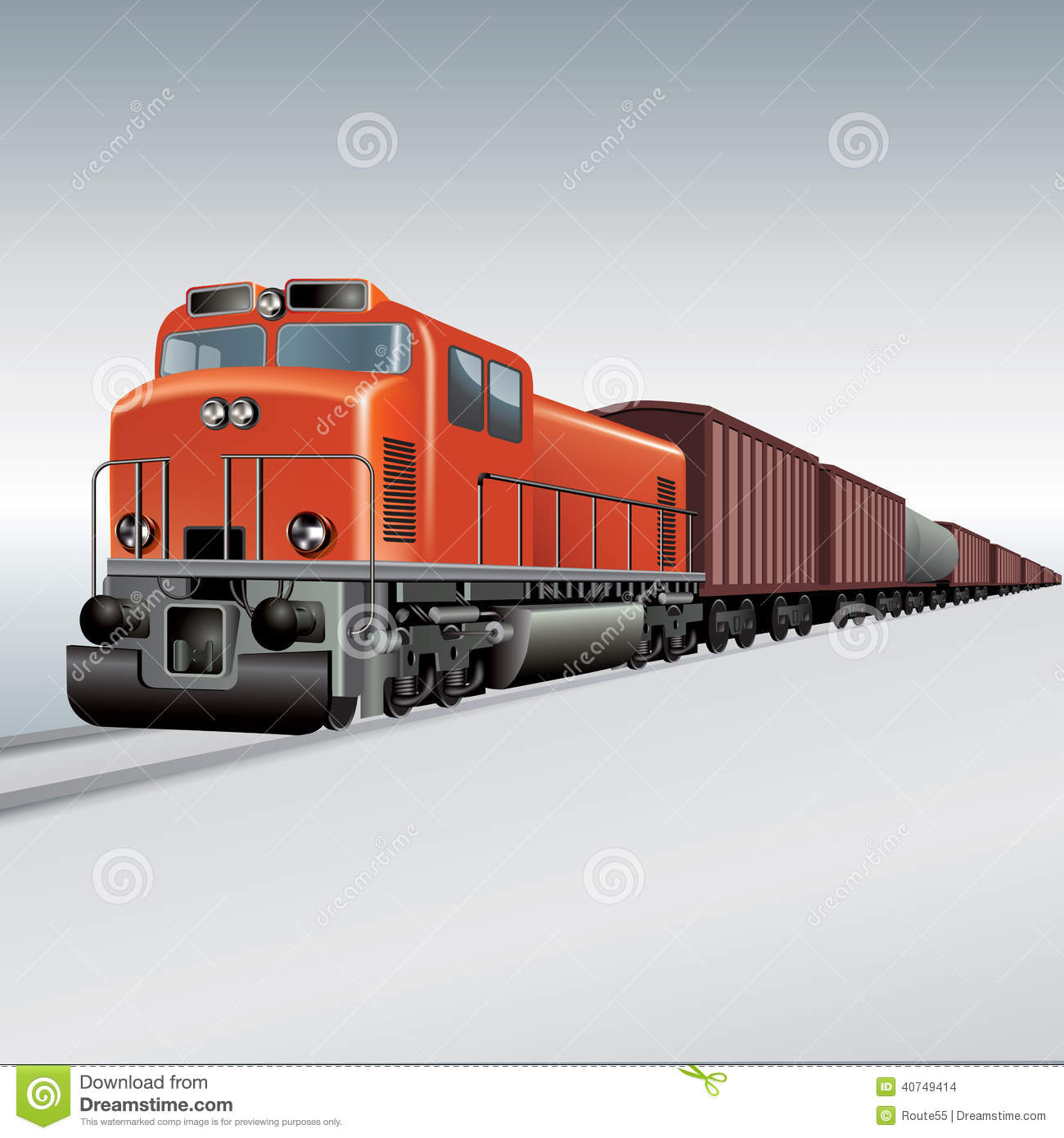 Clipart freight train.