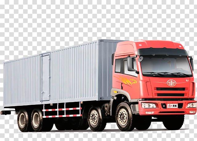 Cargo Truck Driving Transport, car transparent background.