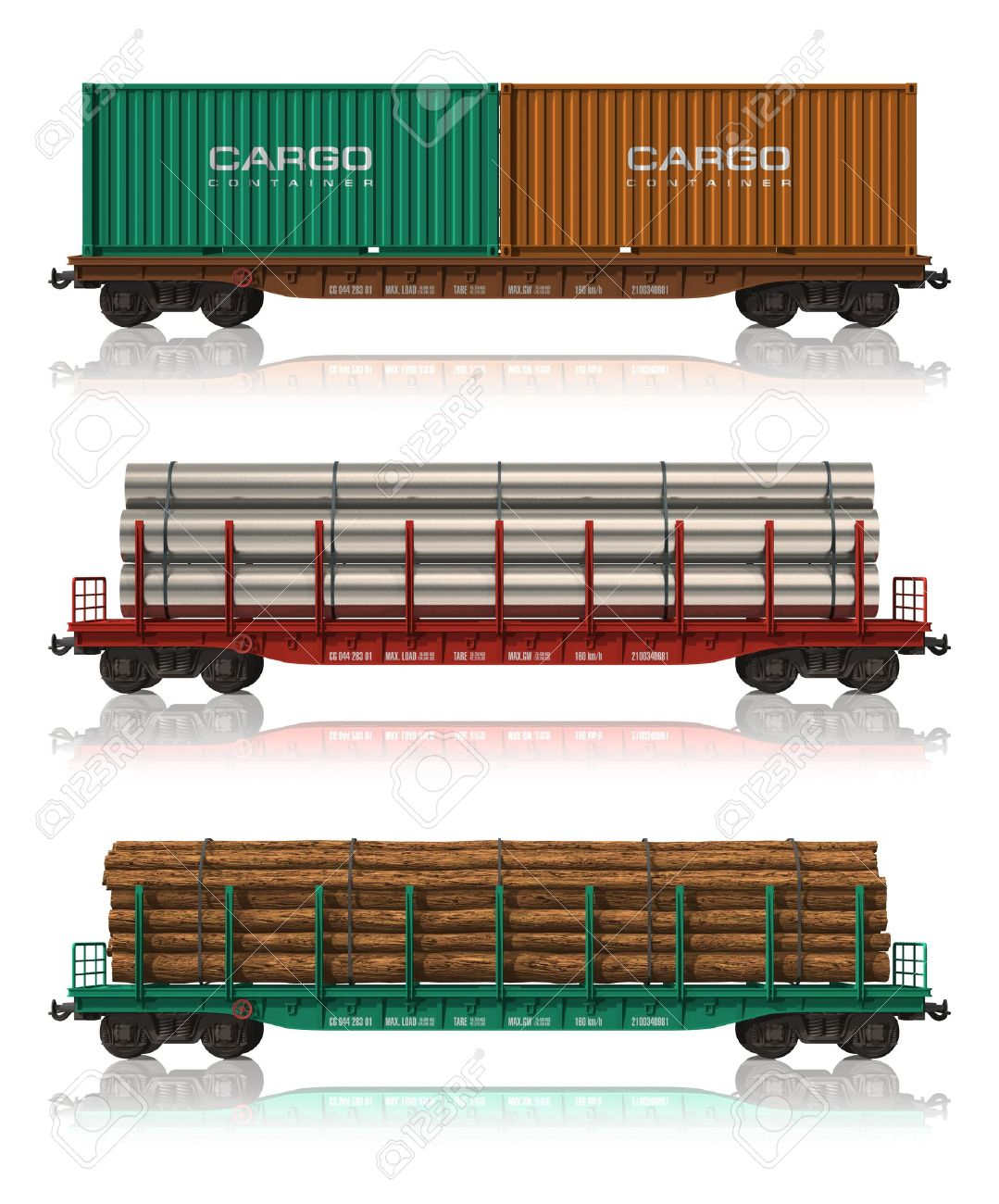 Freight train car clipart.